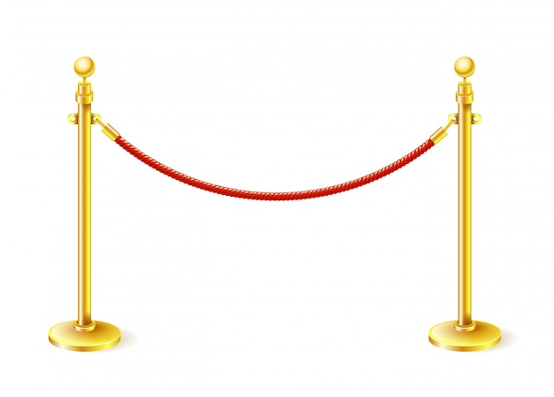 A barreira no tapete vermelho cinema veludo