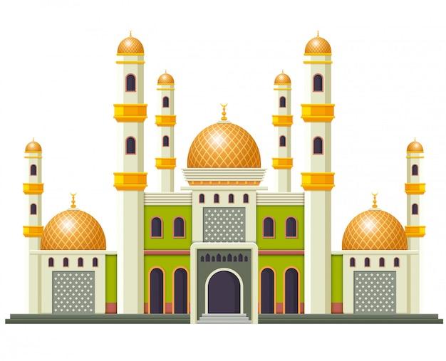 A bela mesquita com o bom design