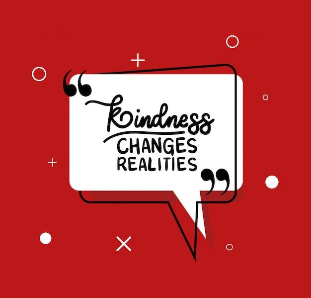 A bondade muda citações das realidades