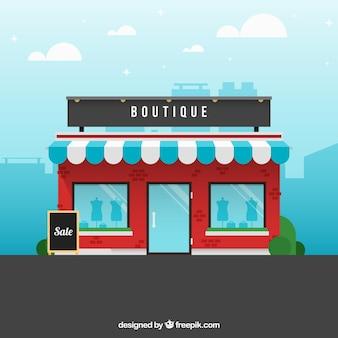A boutique, vista para o exterior