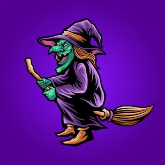 A bruxa voadora