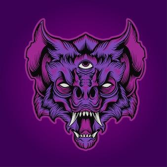 A cabeça de morcego