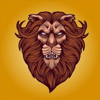 A cabeça do leão