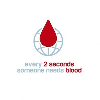A cada 2 segundos alguém precisa cartaz consciência sangue