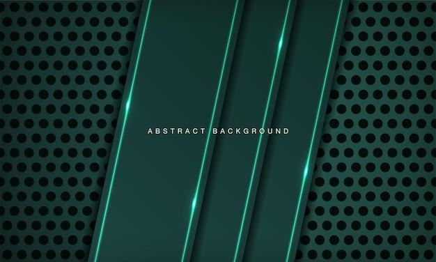 A camada de sobreposição do fundo abstrato da tecnologia 3d na textura do círculo com decoração de efeito de luz verde