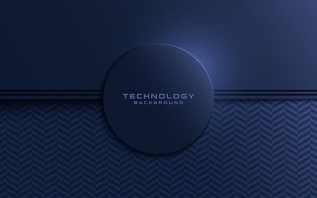 A camada texturizada da marinha escura sobrepõe o fundo às formas do círculo.