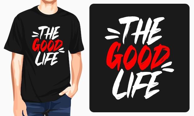 A camiseta gráfica da boa vida
