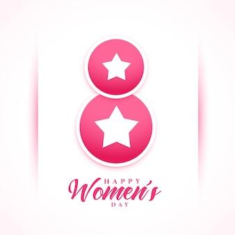 A celebração do dia das mulheres deseja um cartão em estilo estrela