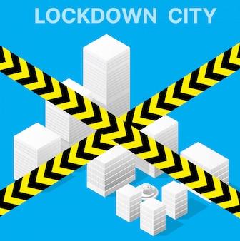 A cidade bloqueada de bloqueio é proibida de