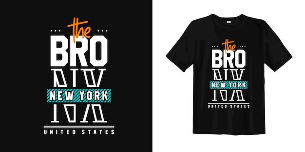 A cidade de bronx de new york city eua. camiseta estilo urbano desgaste
