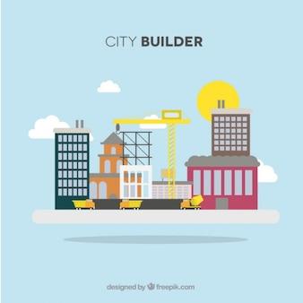 A cidade está sendo construída
