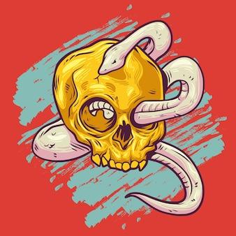 A cobra está no crânio