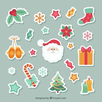 A coleção bonita autocolantes natal