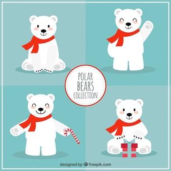 A coleção bonita ursos polar natal