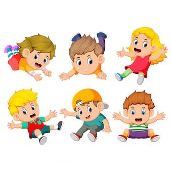 A coleção das crianças voando