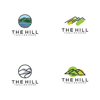 A coleção de logotipo de colina