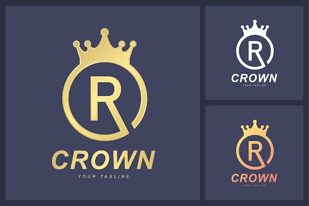 A combinação do logotipo da letra r e o símbolo da coroa.