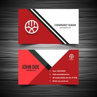 A cor vermelha cartão de visita