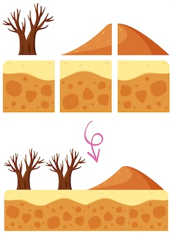 A desert dune game element