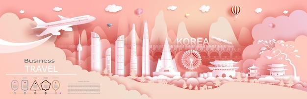 A empresa de publicidade de viagens vai para a coreia do mundo mais famosa.