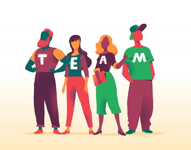 A equipe talentosa de profissionais para a startup