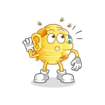 A escuta do favo de mel. personagem de desenho animado