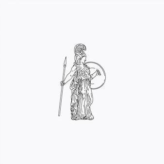 A estátua romana da menina