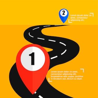 A estrada do ponto a para punt b