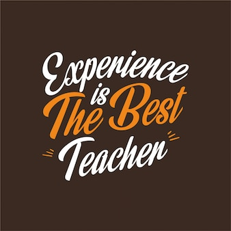A experiência é a melhor tipografia de professores