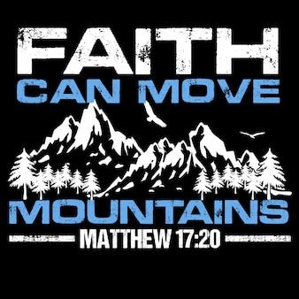 A fé move montanhas