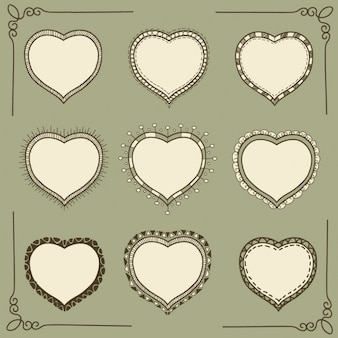 A forma do coração molda a coleção