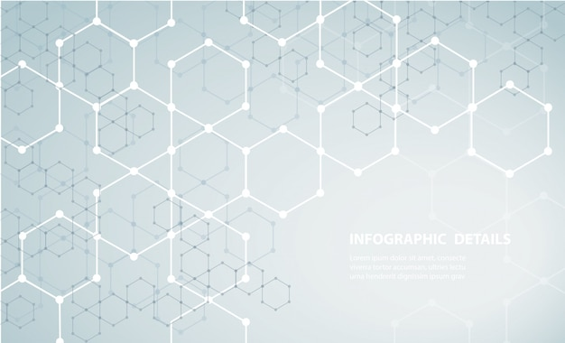 A forma do hexágono conceito design abstrato tecnologia fundo