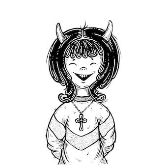 A garota é um demônio.
