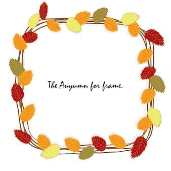 A hera da folha está no outono