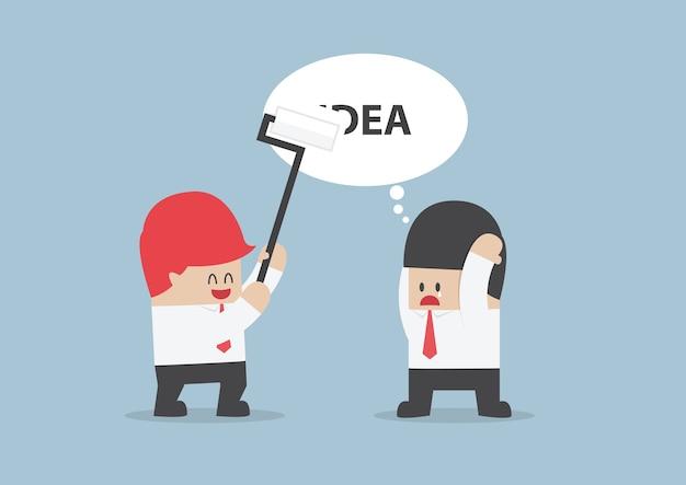 A ideia do empresário está sendo apagada por seu rival