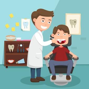 A idéia do médico realizando exame físico ilustração