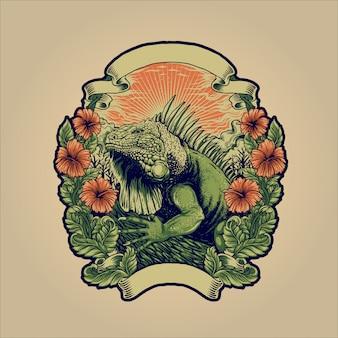 A iguana verde