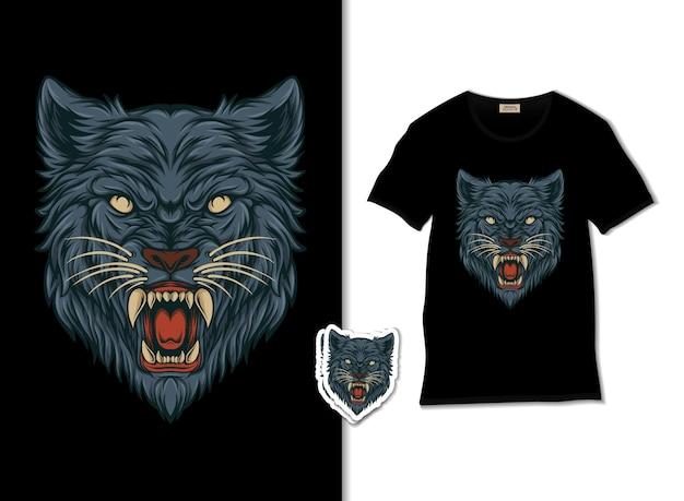 A ilustração da cabeça de lobo