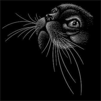 A ilustração da cabeça do gato
