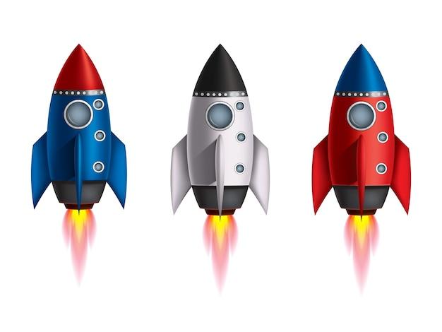 A ilustração da nave espacial