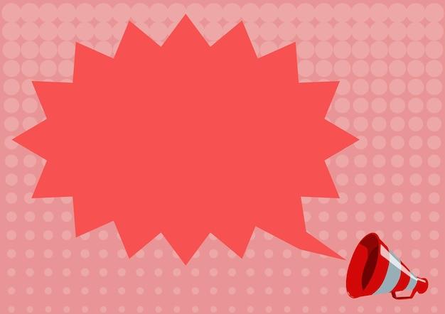 A ilustração de uma nuvem de bate-papo pontiaguda anunciada pelo desenho de um megafone está enviando um