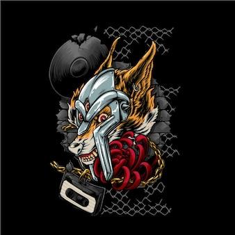 A ilustração do fox doom