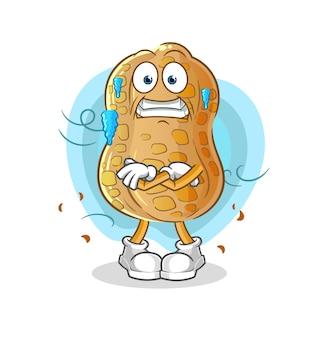 A ilustração do frio do amendoim. personagem