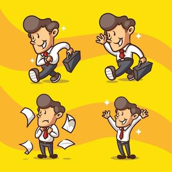 A ilustração do funcionário