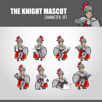 A ilustração do mascote do cavaleiro