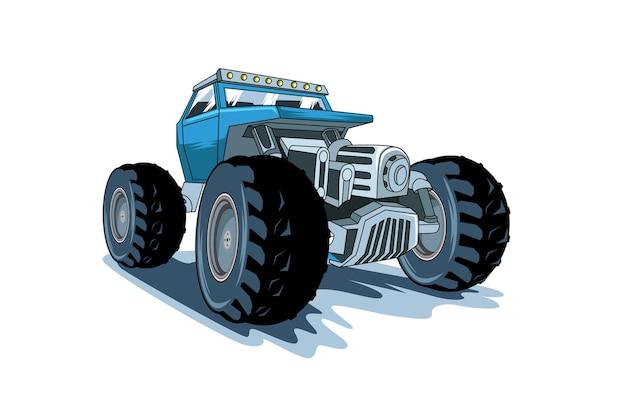 A ilustração do monster truck