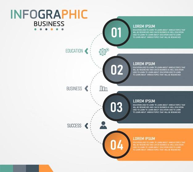 A ilustração infográfico pode ser usada para apresentações, processos, layouts, gráficos de dados. negócio de educação