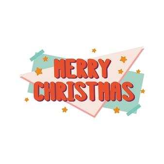 A inscrição feliz natal em sryle retrô