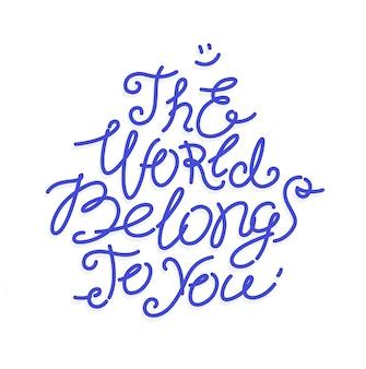 A inscrição paz pertence a você.