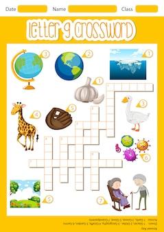 A letra g crossword